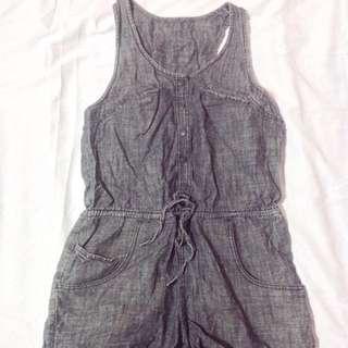 gray denim jumper