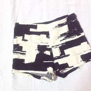 brush strokes shorts