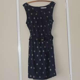 AU16 BASQUE Navy Dress
