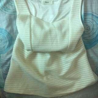 白色洋裝 #一百元洋裝