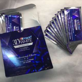 美白牙齒貼片Crest 3D White Whitestrips Teeth Whitening Kit