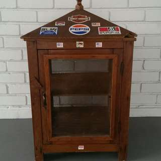 Vintage Wooden Kitchen Cabinet Or Meat Safe