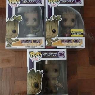 Funko POP! Groot (lot of 3)