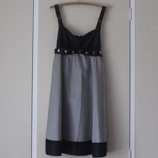 AU14 Silver and Black dress