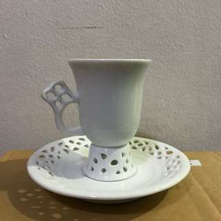 Ceramic Tea Cup And Saucer Set With Design