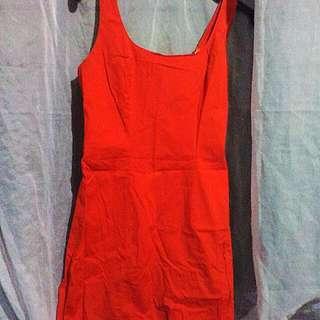 Orange Classy Dress