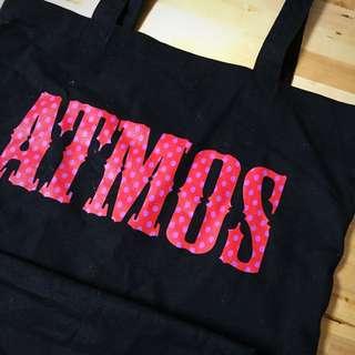 Atmos正版黑色帆布購物包肩背