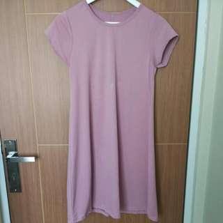 (SALE!NO TAWAR Lagi Ya) Dress Ungu-new