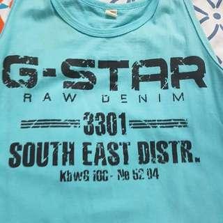 G STAR RAE MENS SINGLET BLUE size S