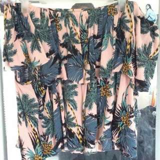 Cropped off the shoulder flowy top