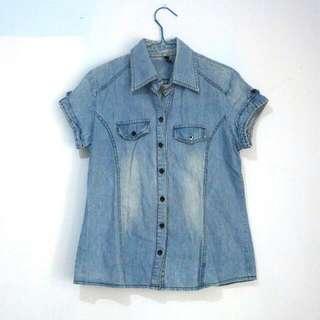 Blue Denim Jeans Shirt