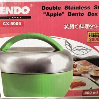 Double Stainless Steel Bento Box