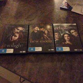Twilight Saga DVD's