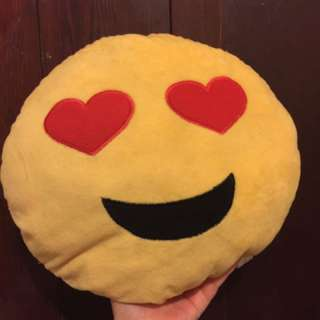 #thecafe Heart-eyed Emoji Pillow