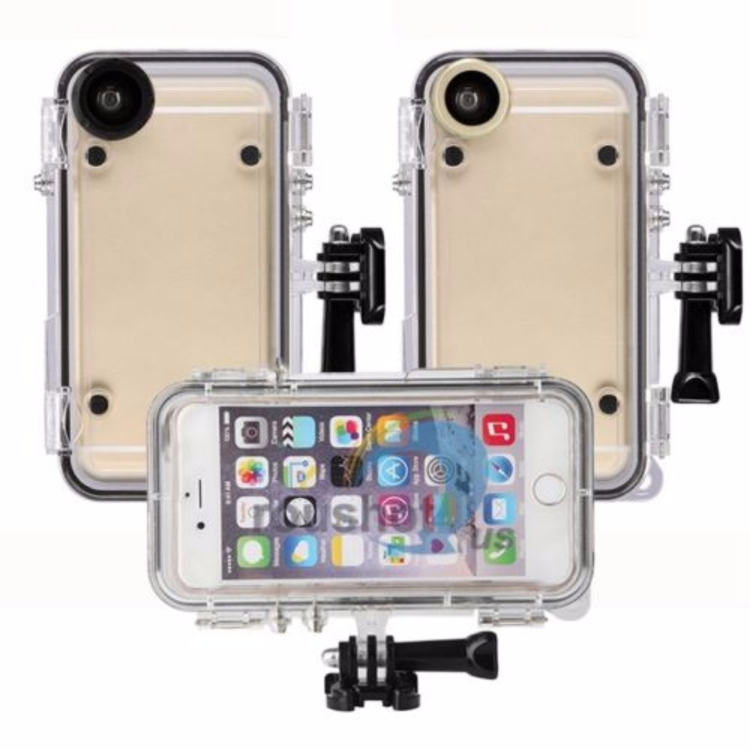 save off 90e44 e4557 170° Wide Angle Lens Extreme Sports Waterproof Case Fr iPhone 6 Plus ...