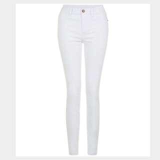 White super skinny jeans #Sunrisetv