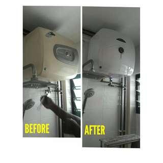 Replace Water Heater (Brand: Ariston)