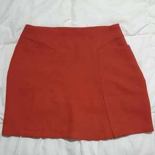 Orange Skirt Size 6