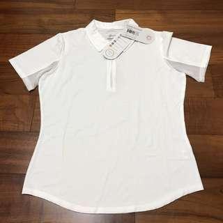[全新原價$2200]女性高爾夫專業機能性涼感透氣吸濕快乾排汗抗菌抗UV短袖POLO 衫