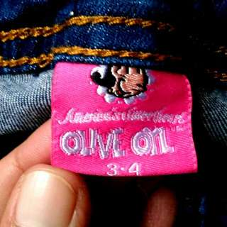Celana Jeans Olive 3-4 Tahun
