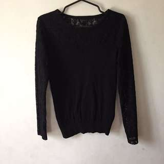 Topshop Lace Long Sleeves