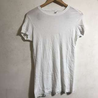 Men's Withe T-shirt Tee T 白色 短袖衫
