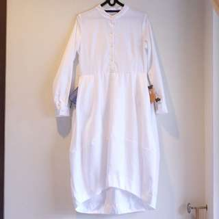 White Balloon Dress Brand Kivee