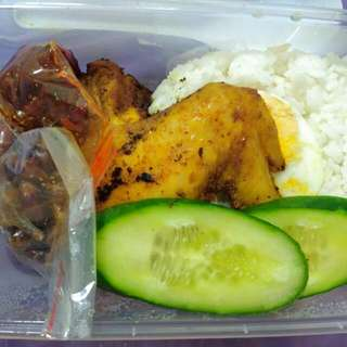 Nasi Lemak Ayam / Chicken Coconut Rice