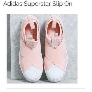 Adidas Superstar Knit Slip On In Baby PINK