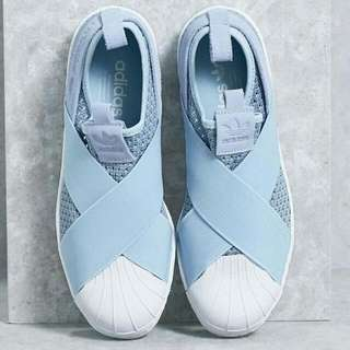Adidas Superstar KNIT Slip On In Baby Blue