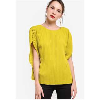 Mango Pleated Blouse