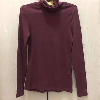 Maroon Turtle Neck From New Look