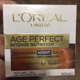 L'Oréal Age Perfect Intense Nutrition Night
