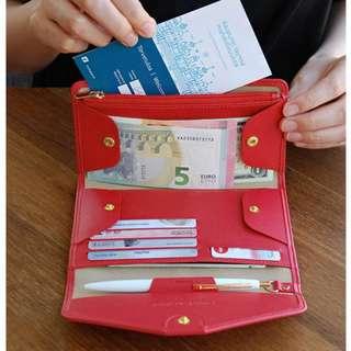 [PROMO] Dompet wanita cewek korea travel paspor tipis murah Murah