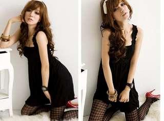 黑色壓摺洋裝 #一百元洋裝