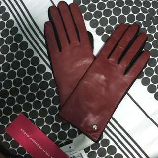 Kate Spade All Leather Gloves