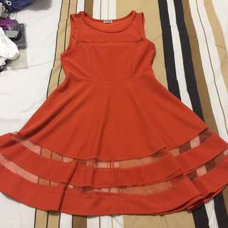 Miu-Miu Orange Dress