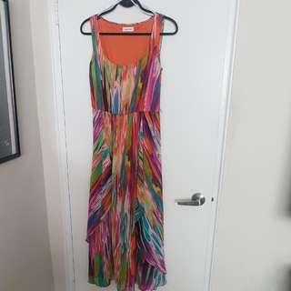 Watercolour CALVIN KLEIN Dress Size 8