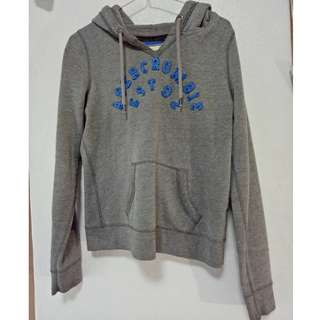Abercrombie & Fitch Hoodie Jumper Small Grey