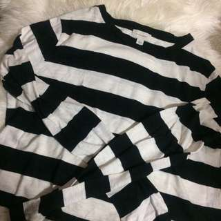Witchery Striped Long Sleeve Crop