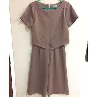 Brown Jumpsuit / Romper