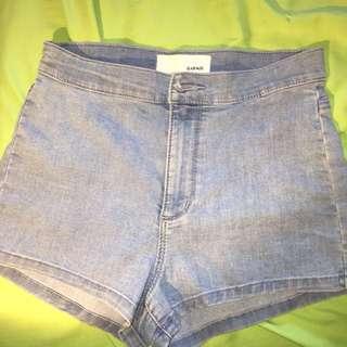 Garage High Waisted Denim Shorts