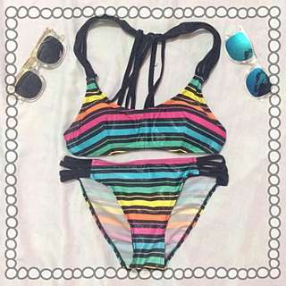 Colored Stripes Swimsuit