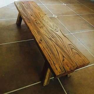 Old Elm Wood Vintage Stool Bench