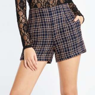 Pomelo Jae Tweed Shorts