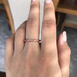 Red Stackable Pandora Ring