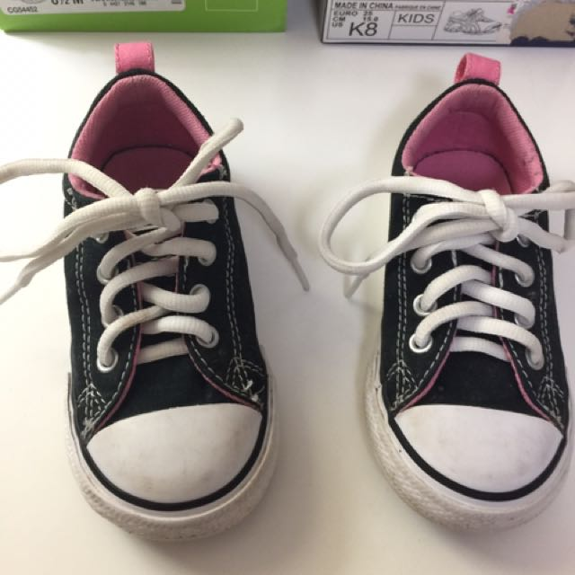 3 Pairs Girls Sneakers Size 8 & 8.5