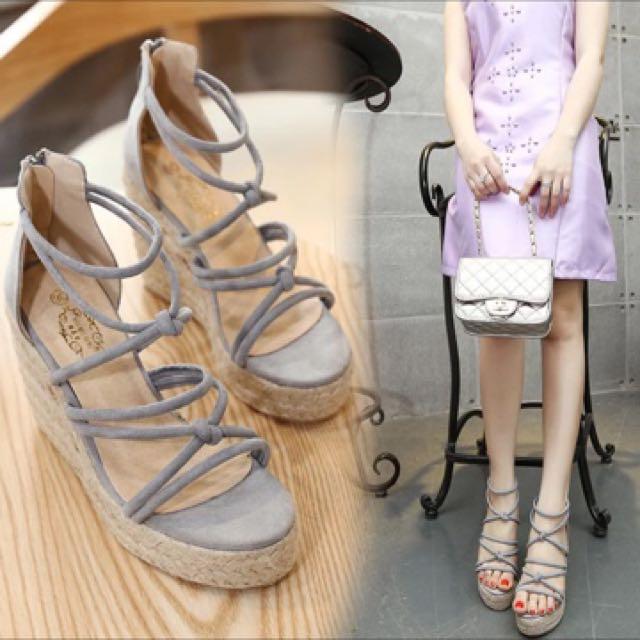 松糕鞋厚底羅馬鞋