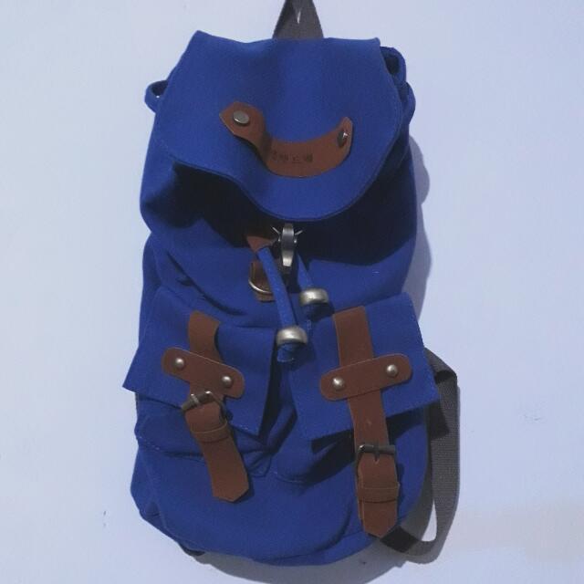 天藍小舖雙肩背包
