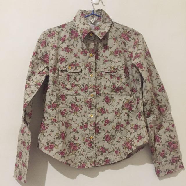 全新-古典花朵襯衫